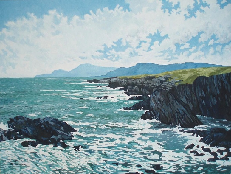 Atlantic Coast -- Achill Island. For Sale Framed Euro 500