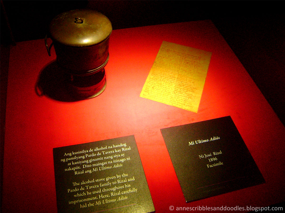 Jose Rizal Museum: Mi Ultimo Adios and the Alcohol Stove