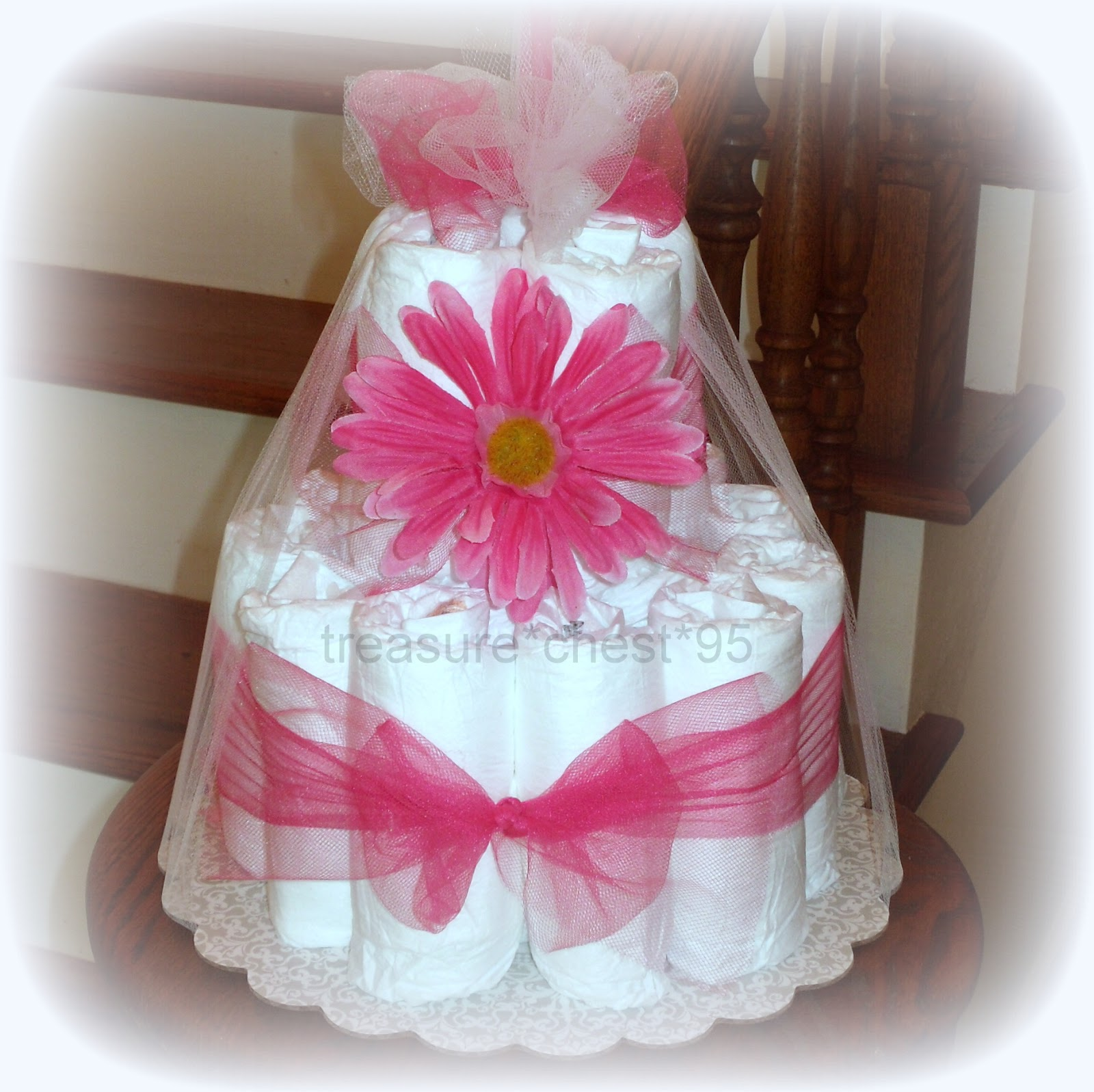 diaper cake baby shower centerpiece girl decoration newborn ebay