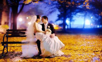 Свадебное фото: вечер для двоих