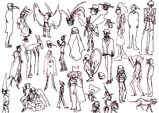 Festival Costumes Drawing Gesture Sketches at Annual