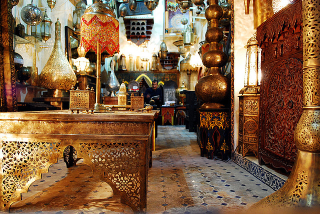 Lamp for sale @Fez, Morocco