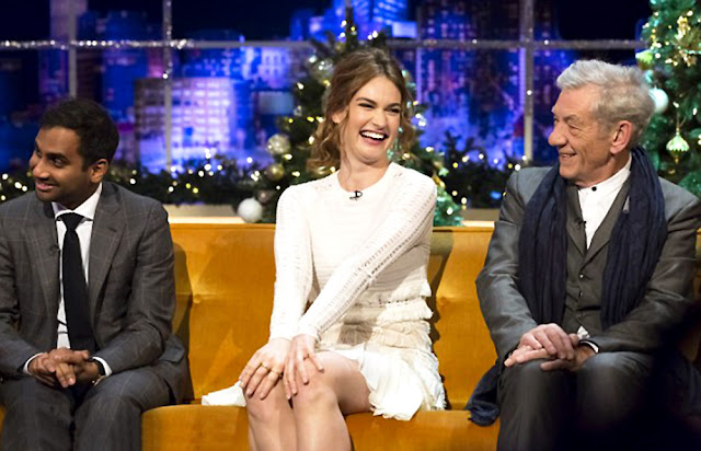 Actress, @ Lily James - The Jonathan Ross show