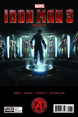 Comic cover showing Tony Stark standing in his Hall of Armor