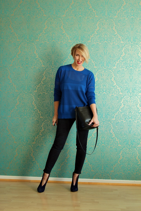 Outfit: Skinny Jeans mit Stiefeletten