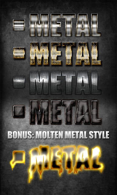 مجموعة ستايلات فوتوشوب معدن احترافية Metal Styles Arab-Design