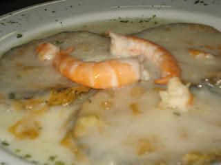 recetillas de mer: berenjenas con salsa de langostinos