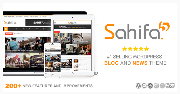 Download Free Sahifa v5.5.2 Responsive WordPress News / Magazine Theme