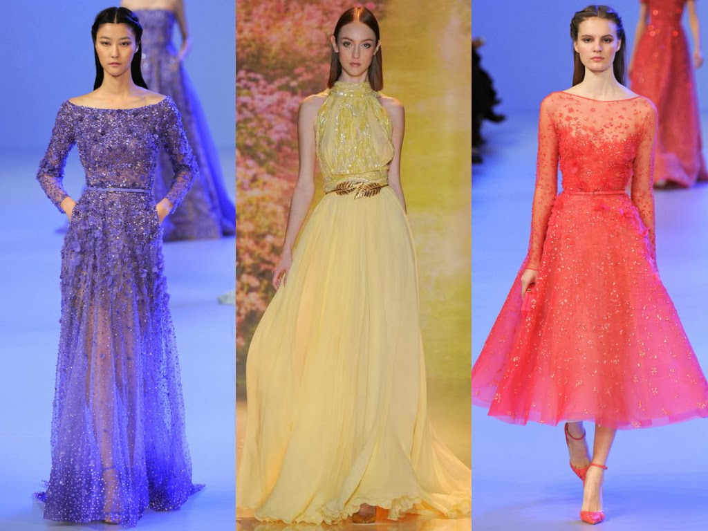 elie saab and zuhair murad spring 2014 lace gowns