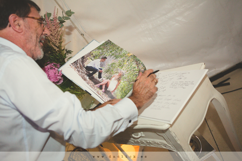libro de firmas con fotos preboda