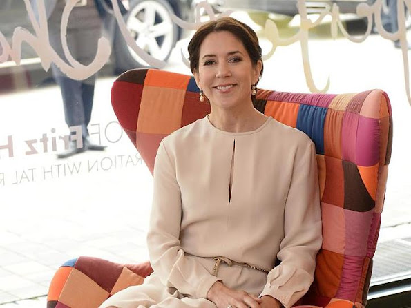 Crown Prince Frederik and Crown Princess Mary of Denmark at a furniture shop during their visit to Germany
