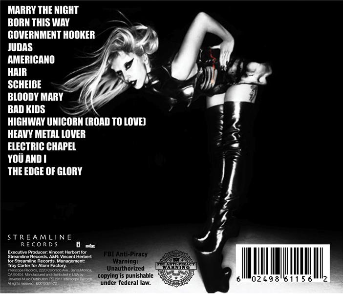 lady gaga born this way deluxe edition tracklist. Lady Gaga tweeted the