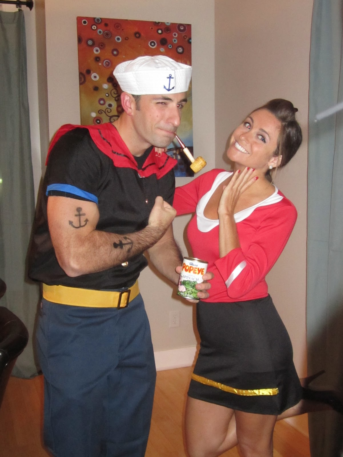 Popeye and Olive ...  sc 1 st  Brit + Co & 25 Genius DIY Couples Costumes | Brit + Co