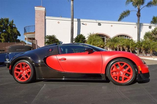 the gear shift unique matte red bugatti veyron grand sport vitesse for sale in u s. Black Bedroom Furniture Sets. Home Design Ideas