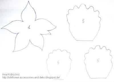 Шаблоны для цветов из кожи своими руками 54