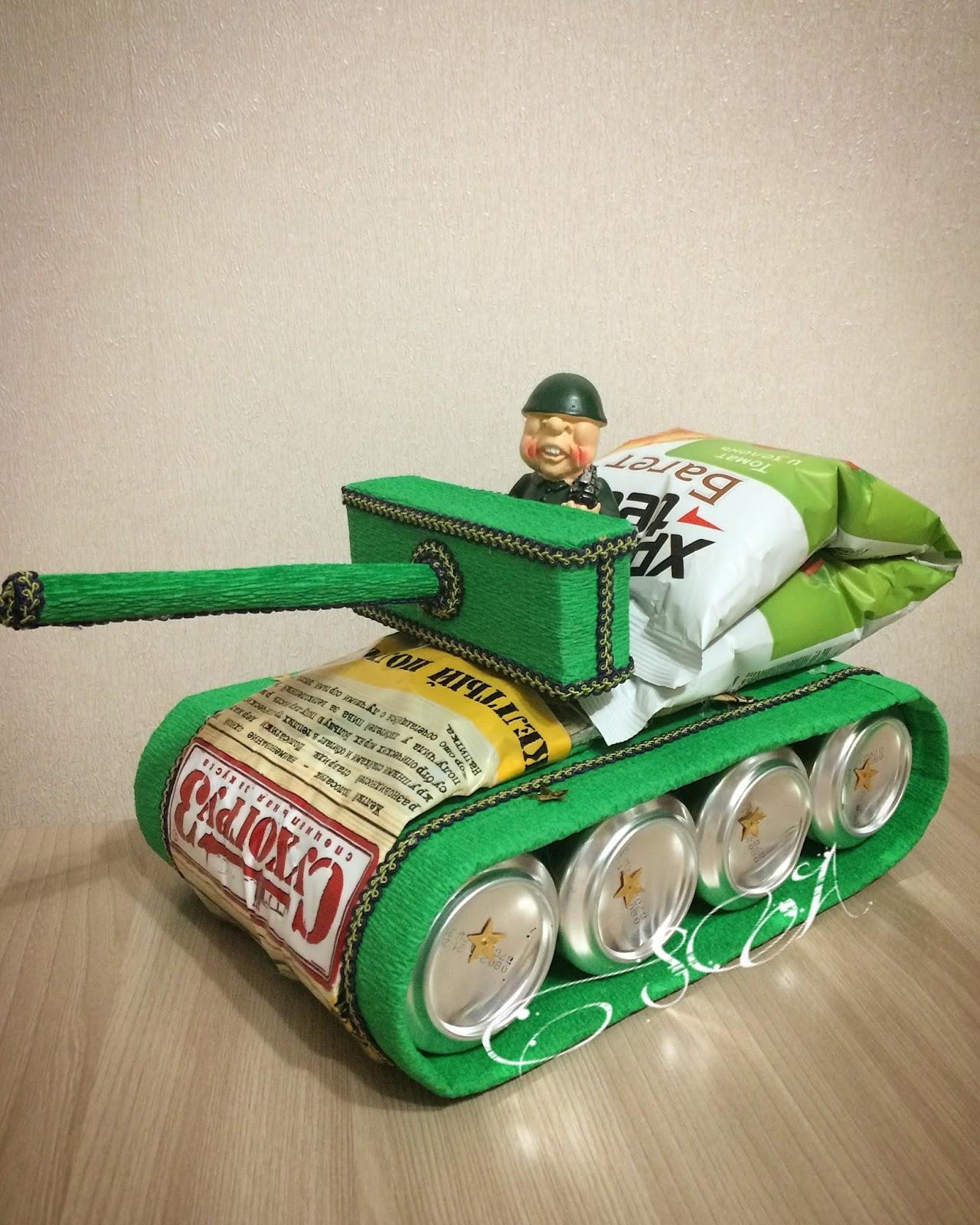 Подарок танкисту своими руками