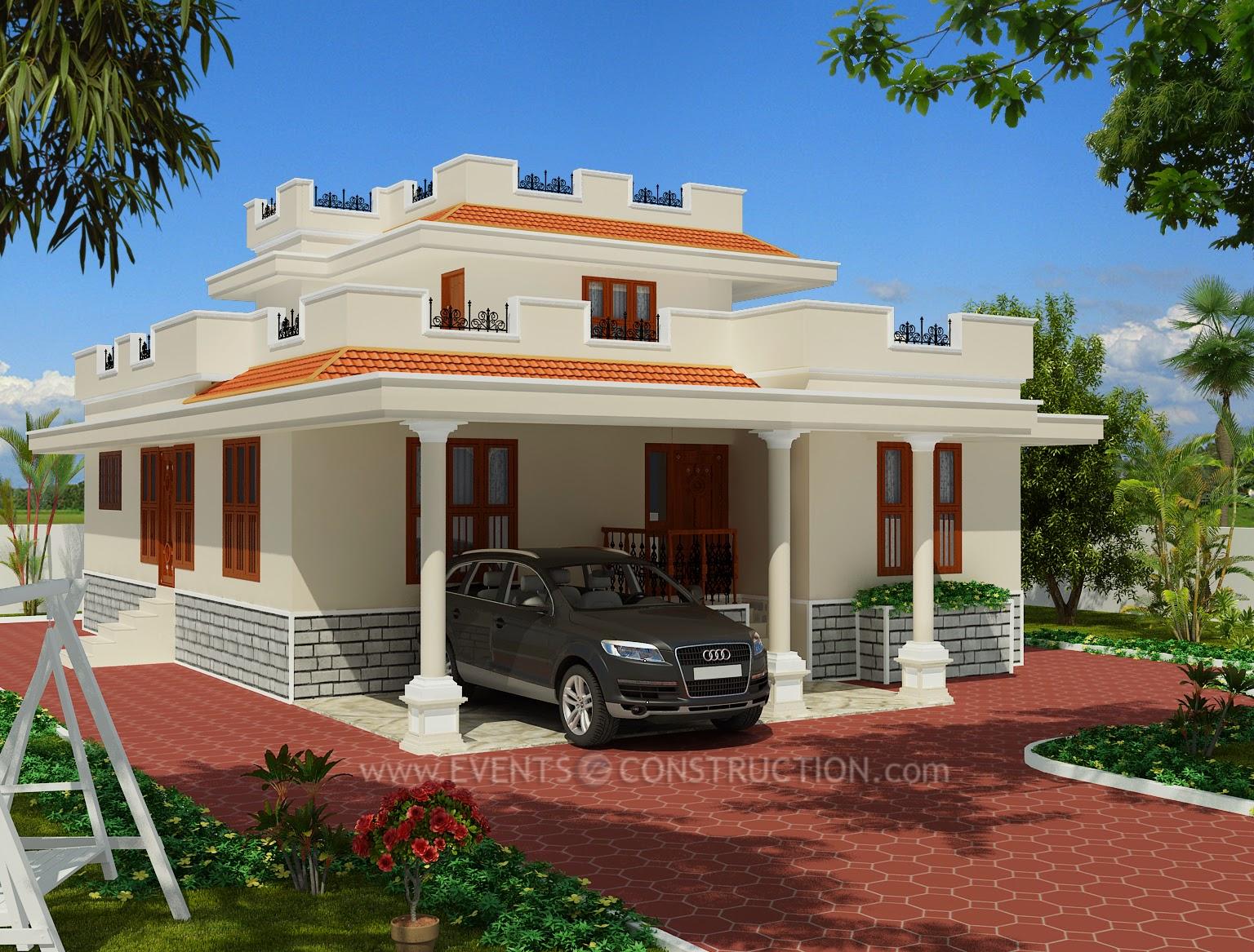 Evens Construction Pvt Ltd Single Floor Tamilnadu Style