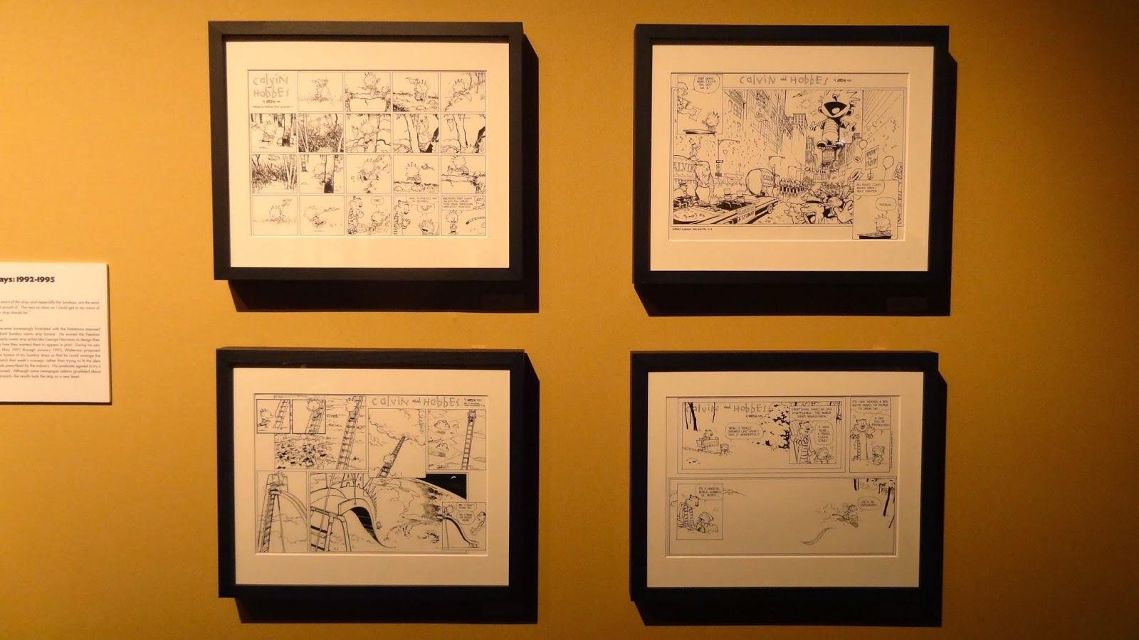 Expo Watterson Calvin et Hobbes, Angoulême FIBD 2015, Les derniers strips