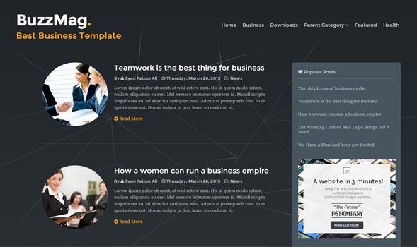 buzz mag responsive blogger template
