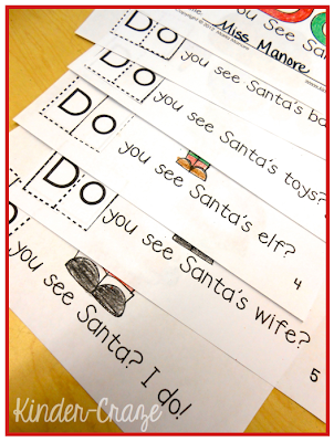 "students cut and paste ""do"" to complete each sentence"