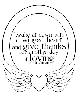 wake at dawn with a winged heart printable quote