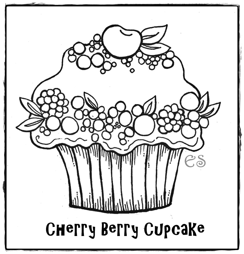 Free Printable Images Of Cupcakes : Cupcakes Coloring Pages - Free Printable Pictures Coloring ...