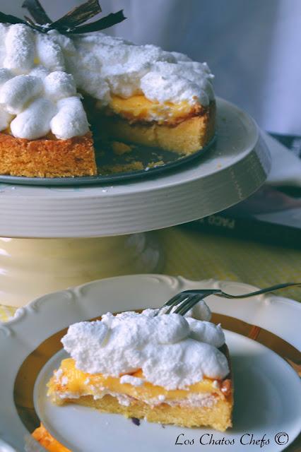 tarta de merengue y naranja