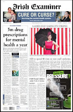 Front Page of the Irish Examiner