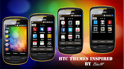 Samsung Corby 2 Theme: HTC by Bham | Corby 2 Downloads