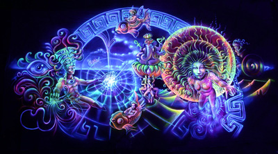 36 amazing psychedelic blacklight posters to give you an idea of what is possible in the realm of uv black light art here i present to you some of my all time favorite backlight posters wall mozeypictures Gallery