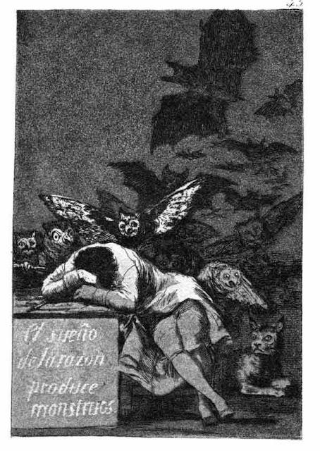 Goya, Caprices, le sommeil de la raison