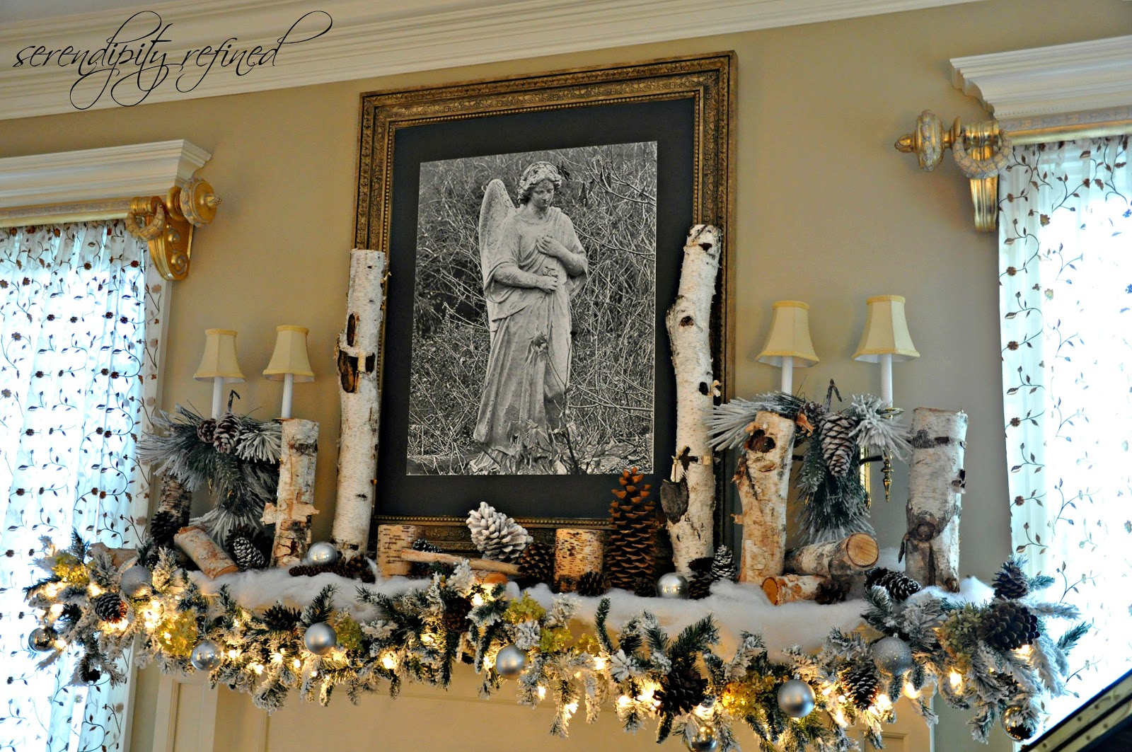 Serendipity Refined Blog Woodland Winter Mantel And Nfl