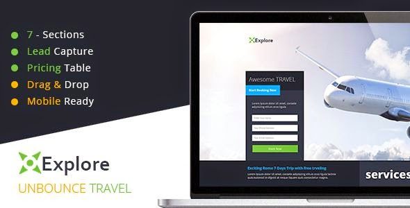 Best Travel Unbounce Template