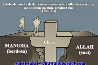 yesus bukan perantara antara allah dan saksi yehuwa