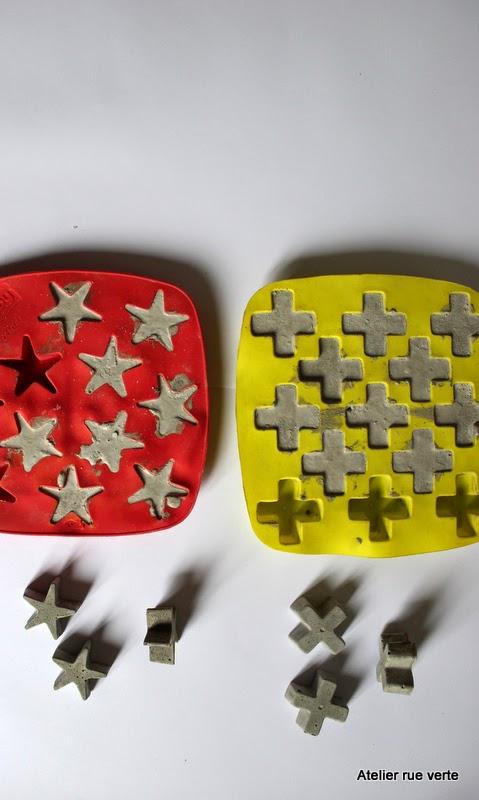 DIY Concrete stars and cross / Photo Atelier rue verte /