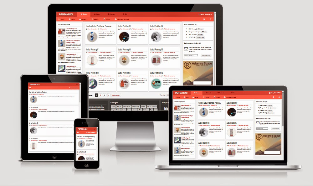 Download pertamax responsive html 5 blogger templates maxwellsz