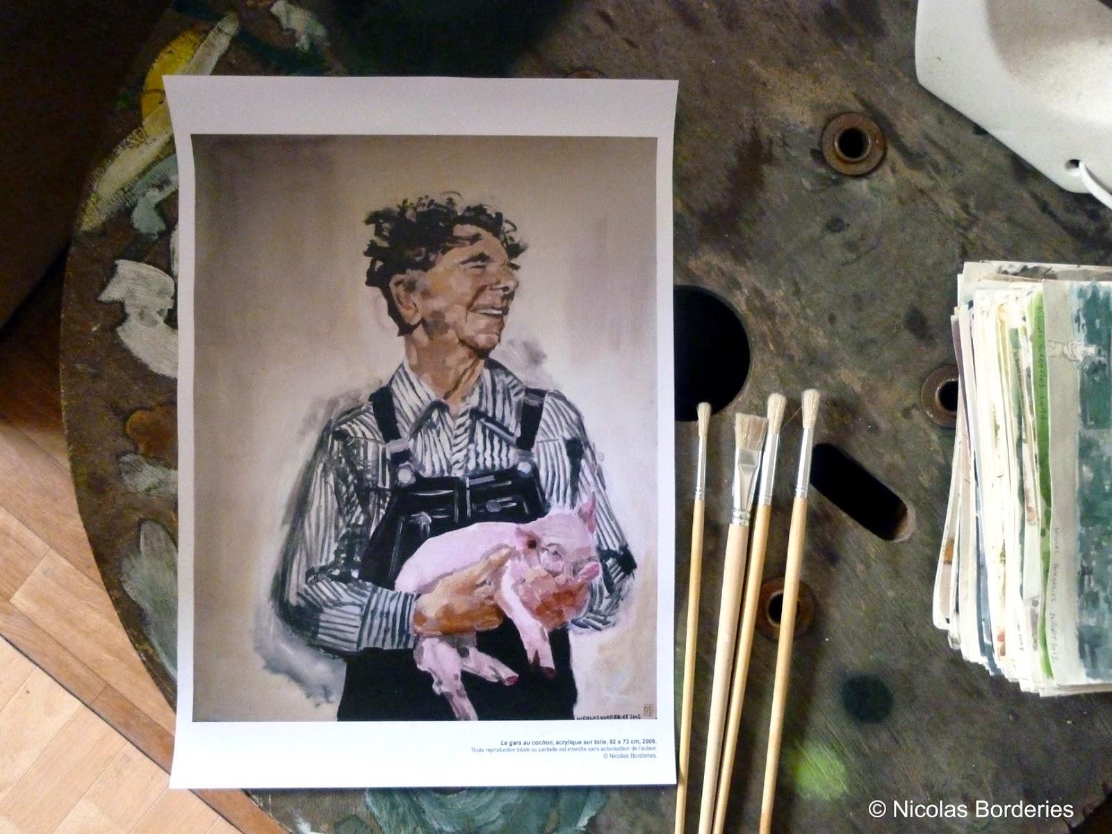 Nicolas Borderies Le gars au cochon
