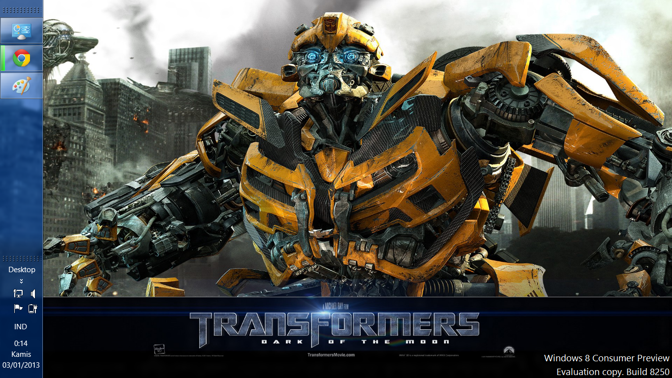 free download windows 8 themes: free download transformers 3 dark of