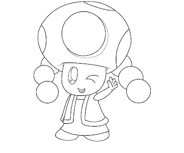 #5 Toadette Coloring Page