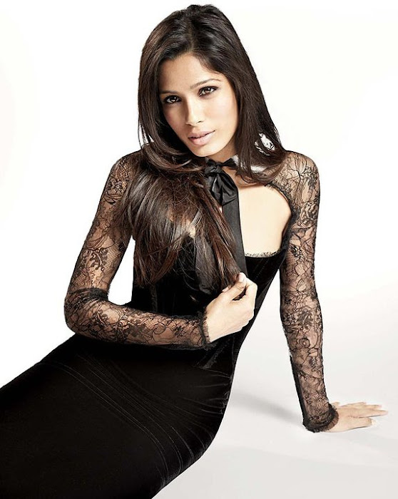 freida pinto on in style uk magazine actress pics