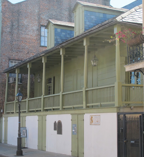 The 18th century Creole cottage known as Madame John's Legacy in New Orleans