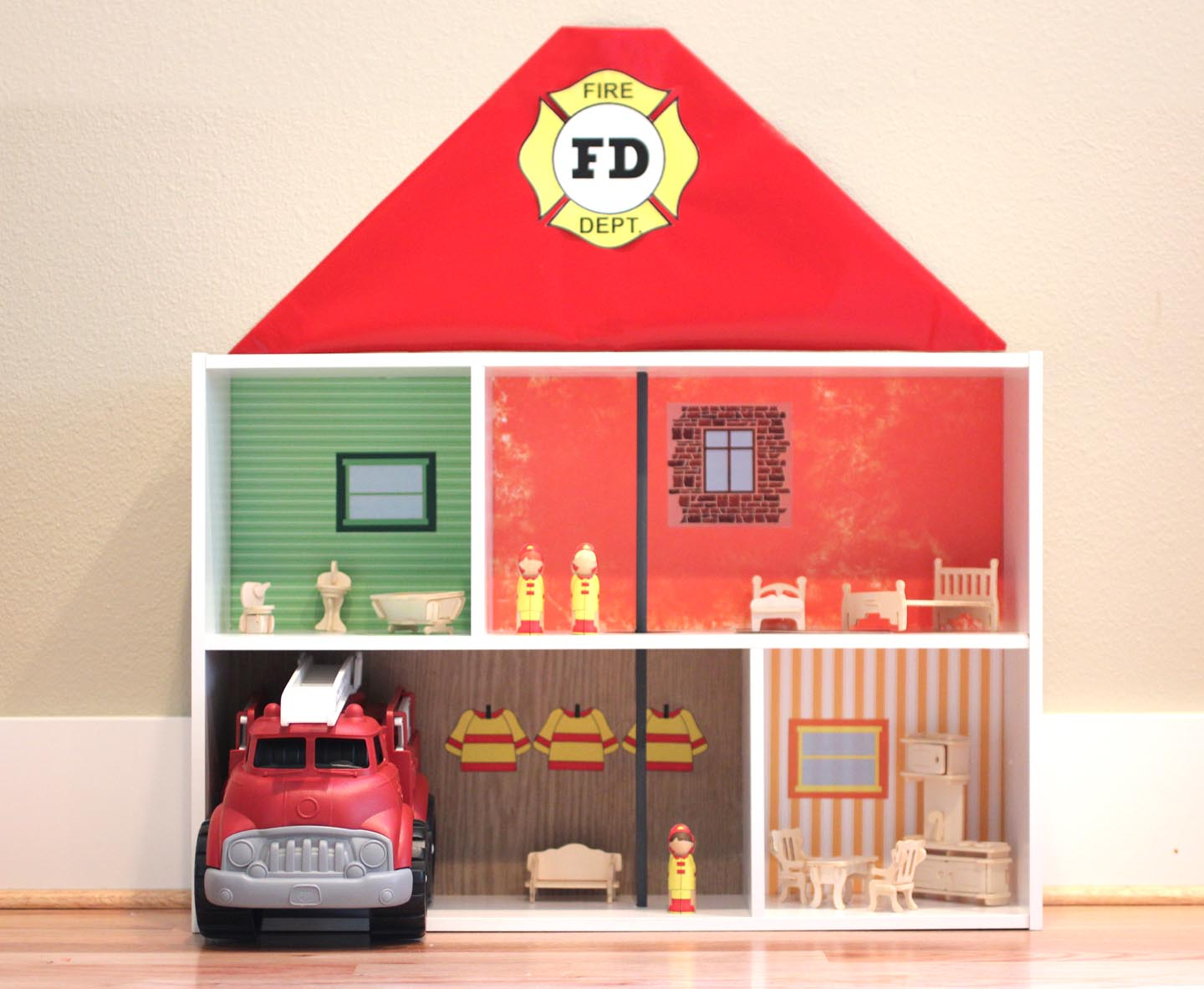 Bookshelf Fire Station Repeat Crafter Me
