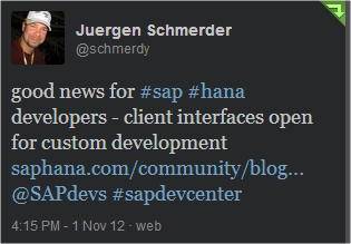 SAP HANA and R (The way of the widget)