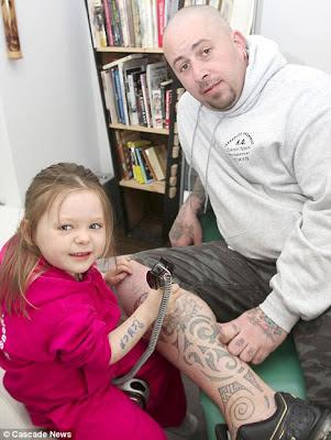 Bocah cilik seniman tatto termuda di dunia