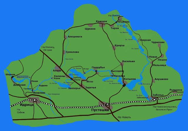 Карта- схема участка реки,