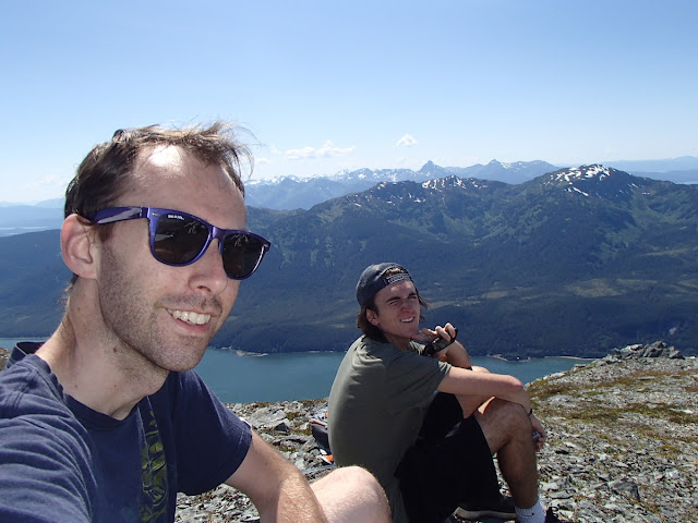 Brian and Tanner on top of Gastineau Peak
