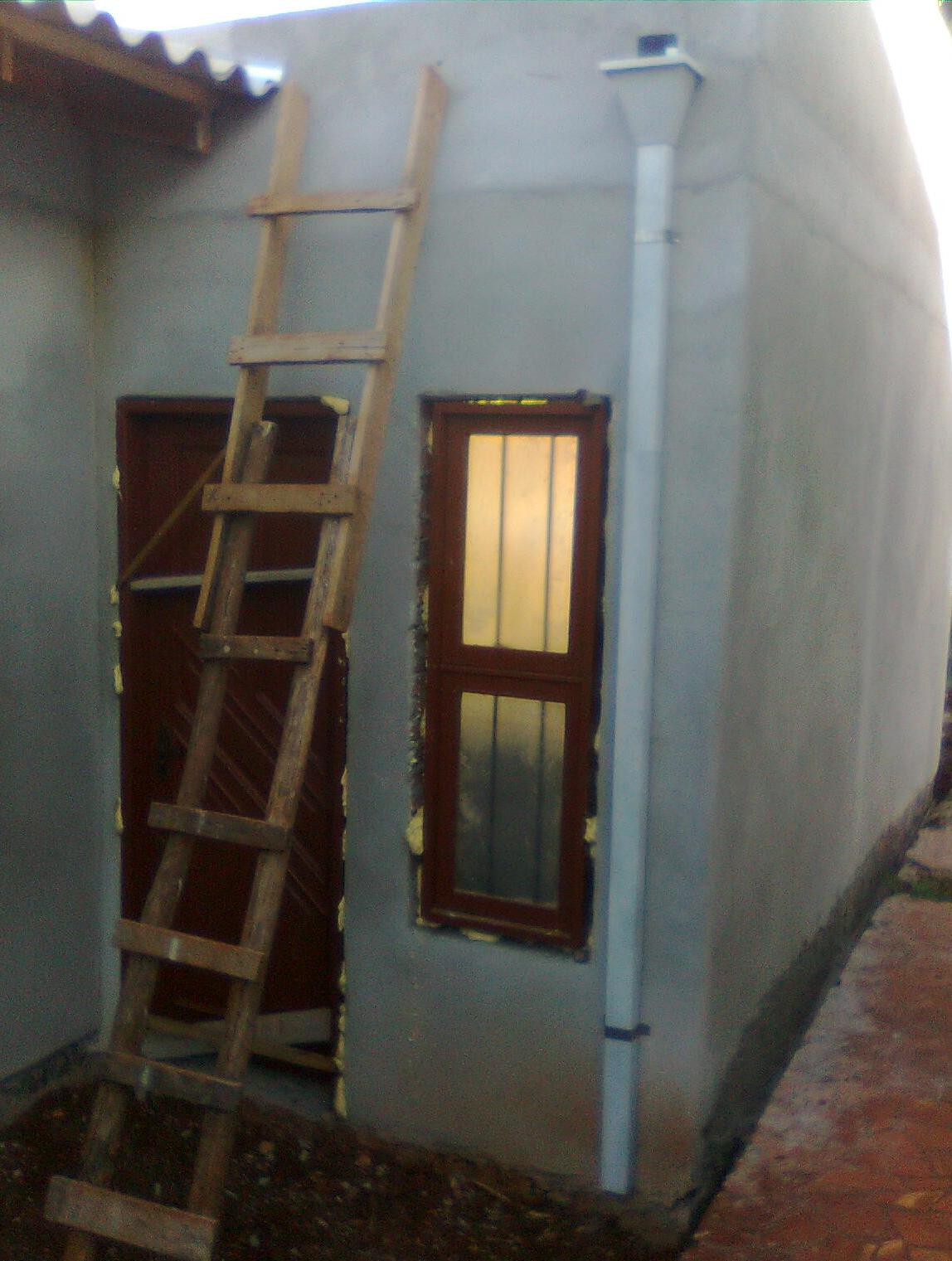 teto da garagem o banheiro e o teto do hall de entrada receberam o  #9B7230 1148x1521 Banheiro Com Janela No Teto