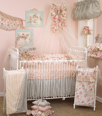 divine baby furniture new shabby chic tea party crib. Black Bedroom Furniture Sets. Home Design Ideas