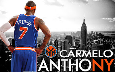 Carmelo Anthony New York Knicks American Small Forward NBA Star USA Hd Desktop Wallpaper
