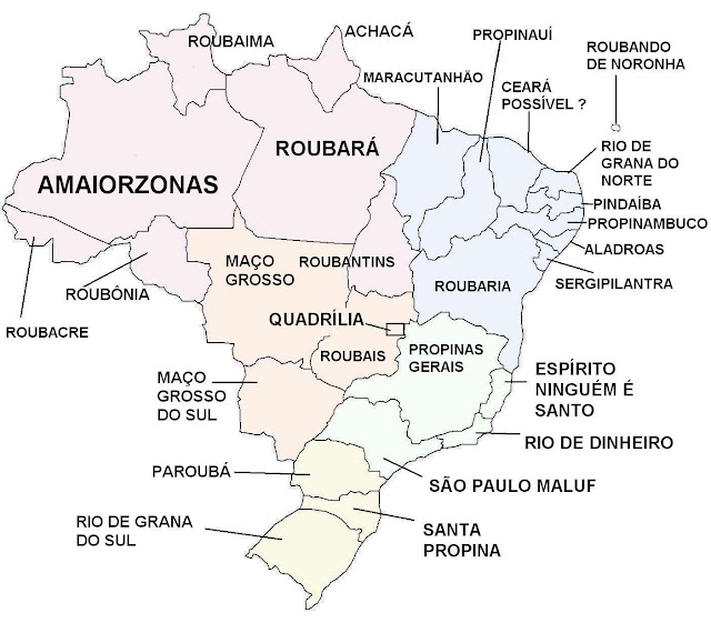 mapa con nombres de brasil